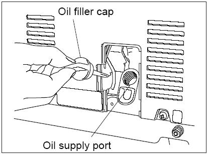 уровень масла в генераторе